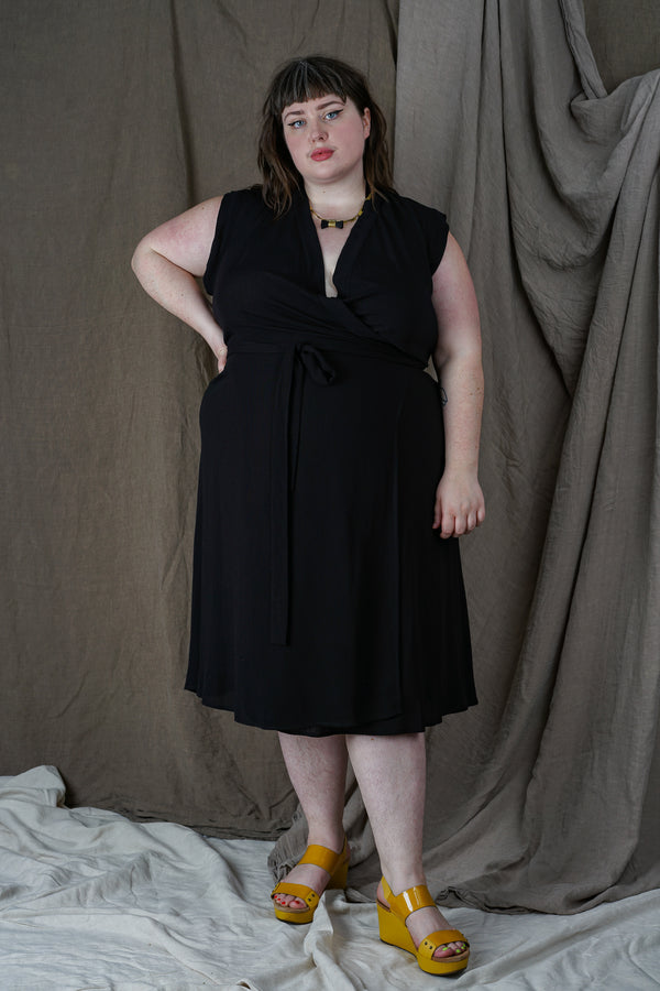 Black Wrap Dress +