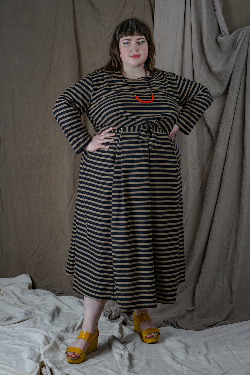 Rue Skirt in Black Stripe +