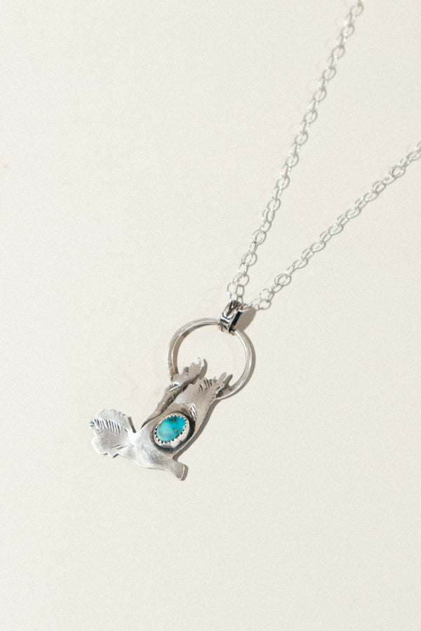 Sweet Pigeon Necklace with Turquoise