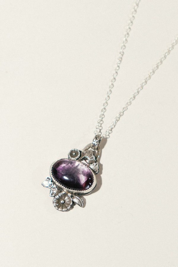 Flora Bloom Necklace with Amethyst