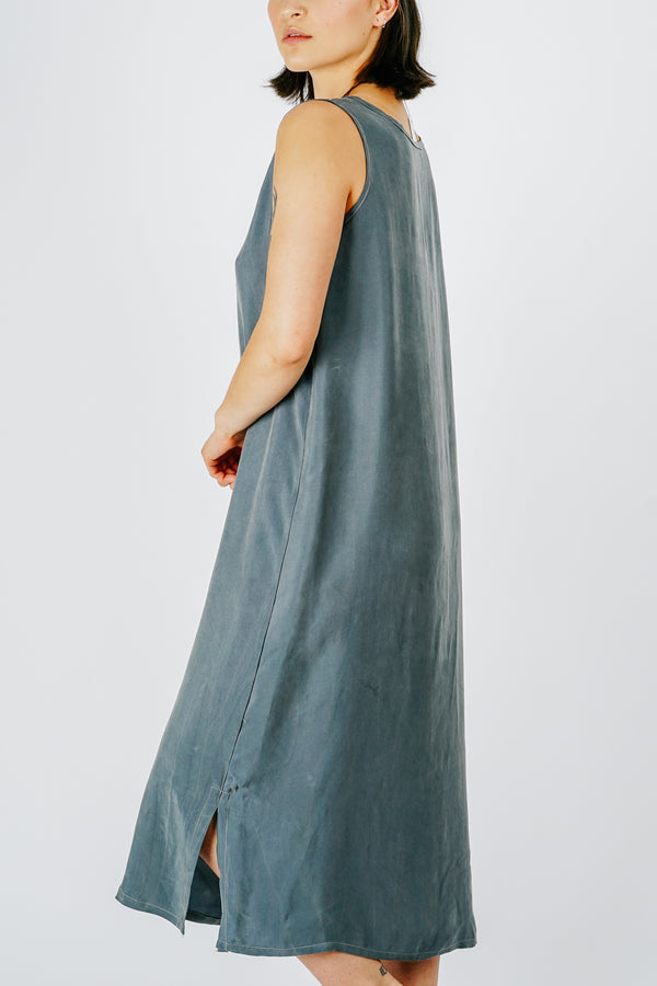 Morning Fog Midi Shift Dress
