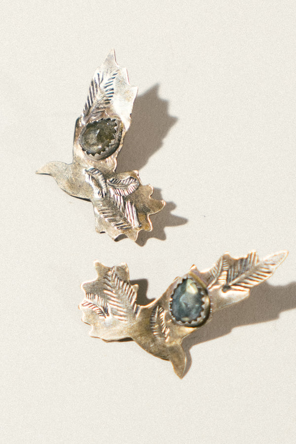 Sweet Pigeon Studs with Labradorite