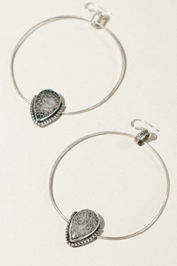 Fossilized Coral Hoops