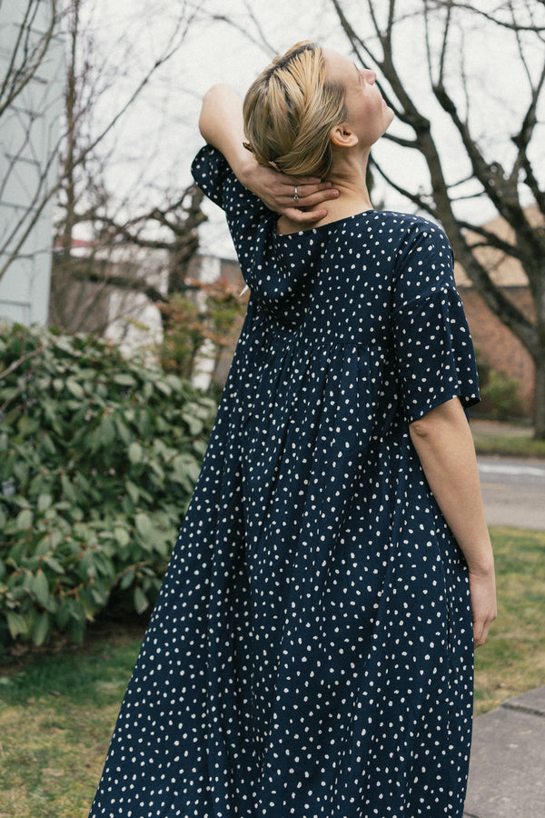 Marin Midi Polka Dot Dress