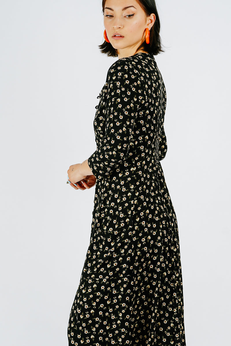 Fiona Dress in Floral Crepe