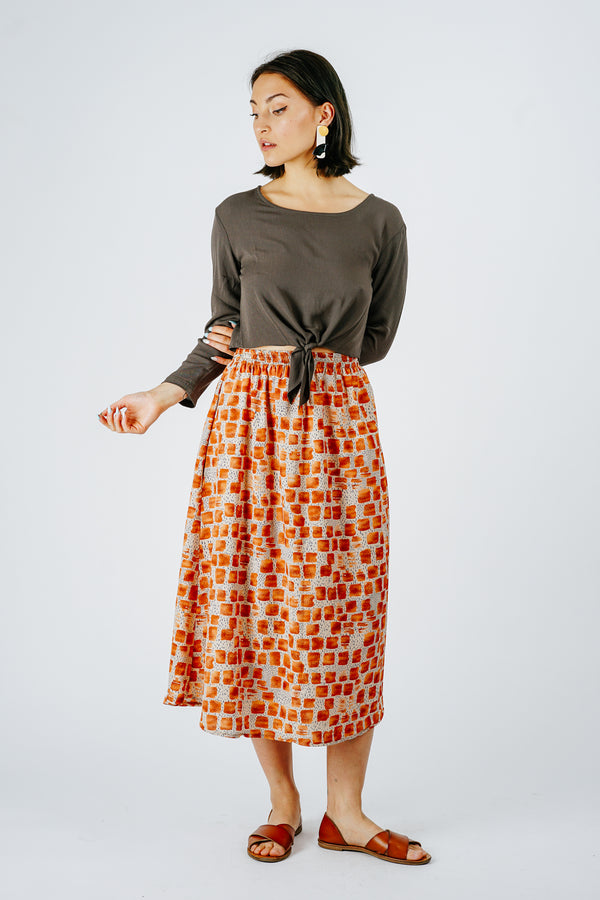 Orange Deco Skirt