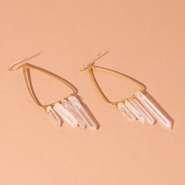 Crystal Moth Wing Earrings