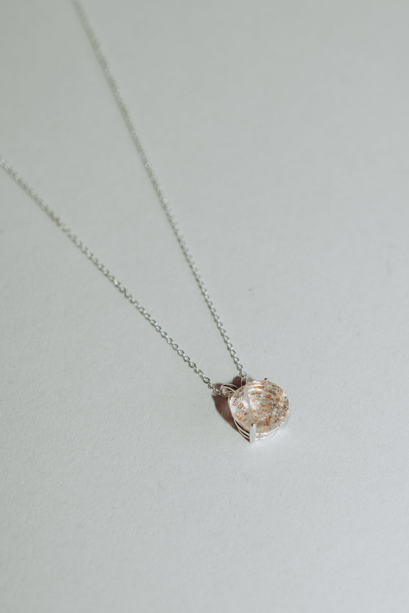 Round Fire Quartz Necklace