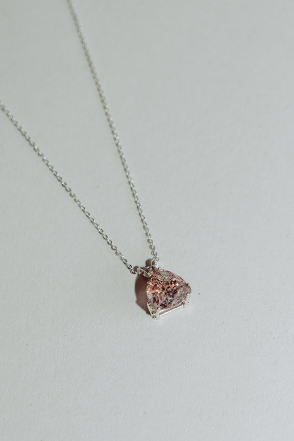 Trillion Fire Quartz Necklace