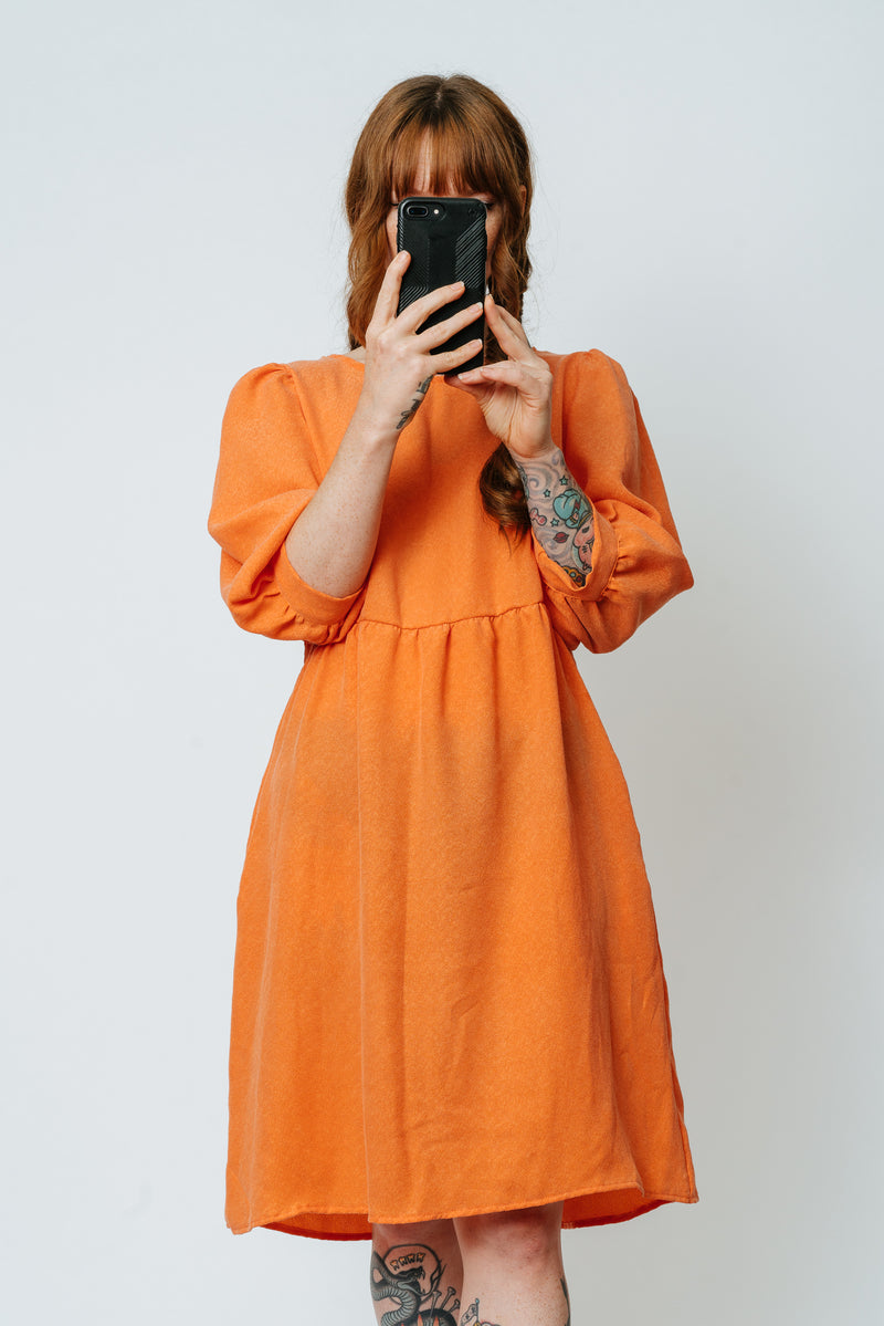 Sherbet Bishop Sleeve Dress