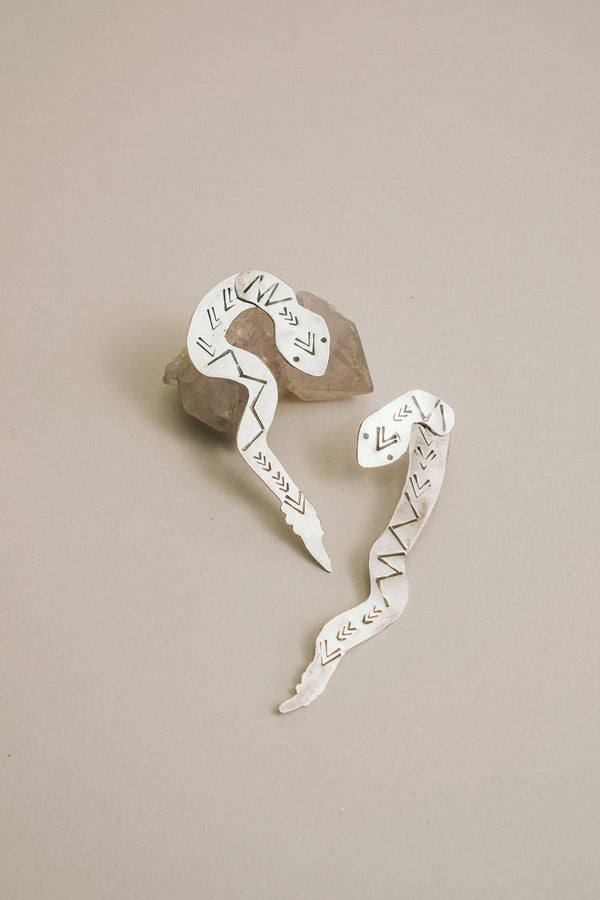 Rattler Stud Earrings