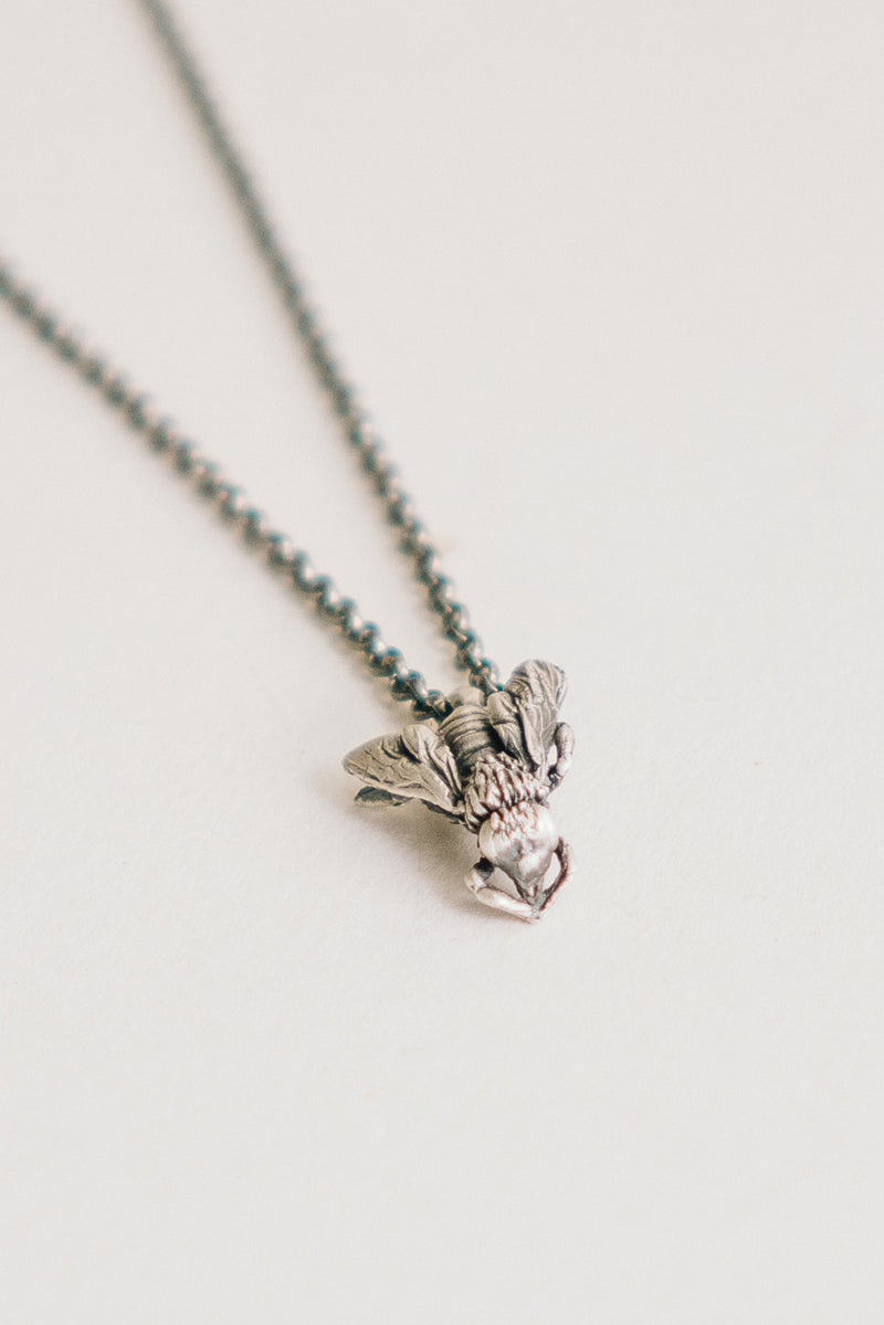 Fly Charm Necklace