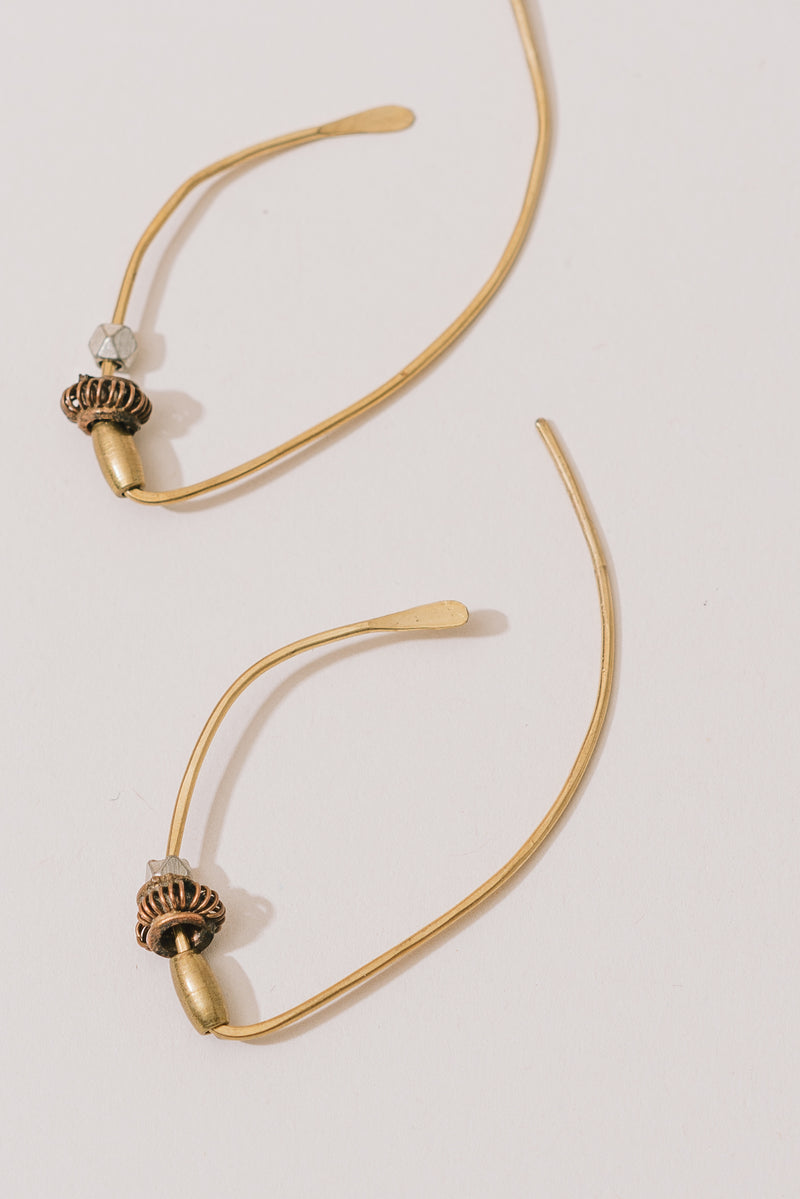 Beaded Metal Threader Earrings
