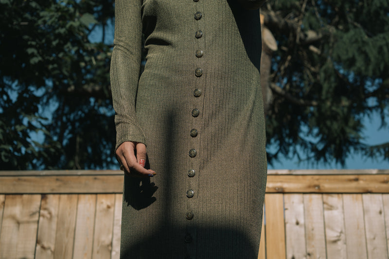 Ila Dress in Gilded Olive