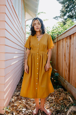 PRE-SALE Olivia Dress in Turmeric