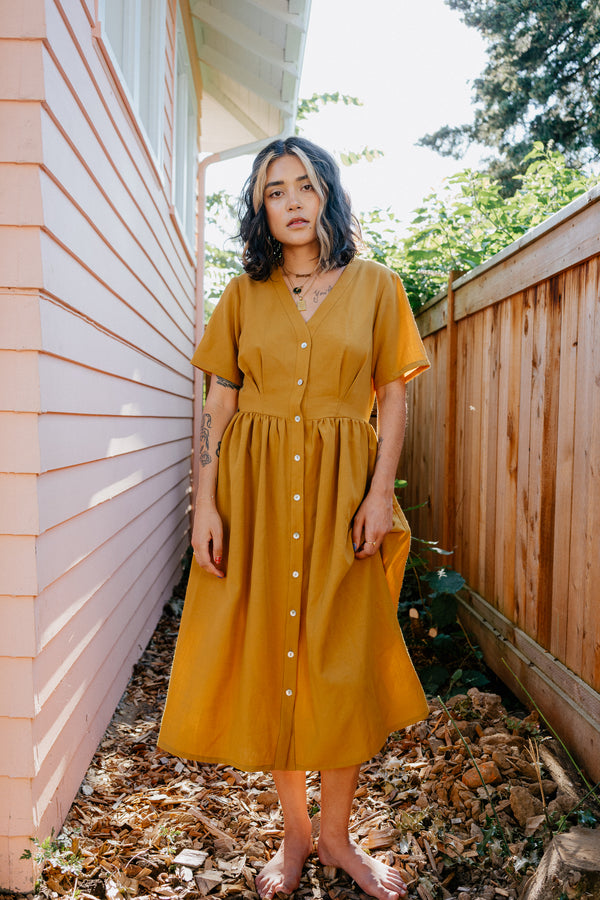 Olivia Dress in Turmeric