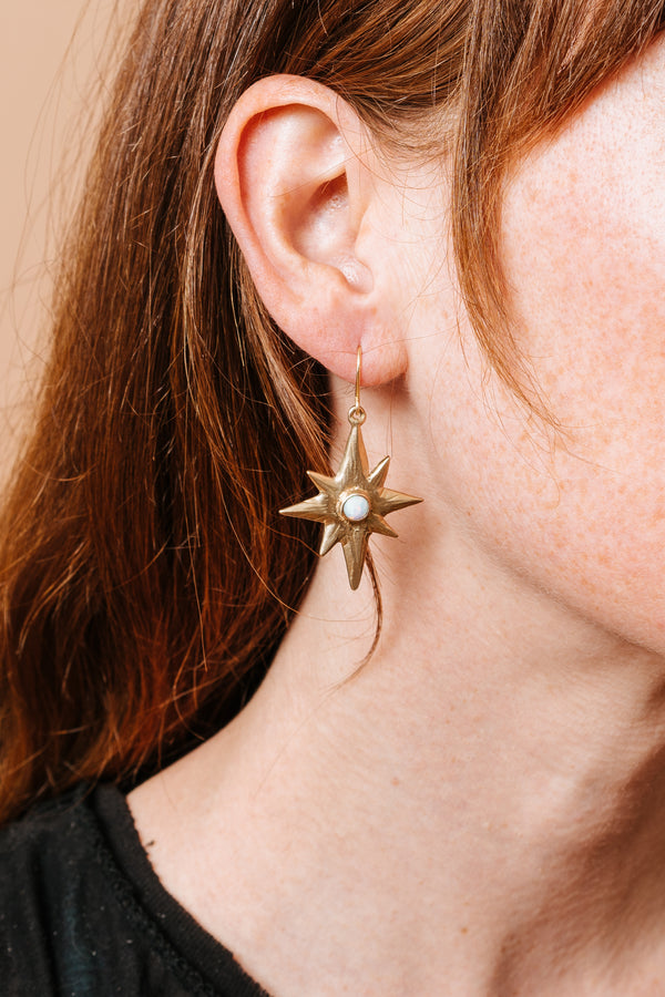 Polaris Single-Star Earrings