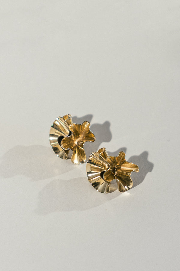 Floreo Earrings in Brass