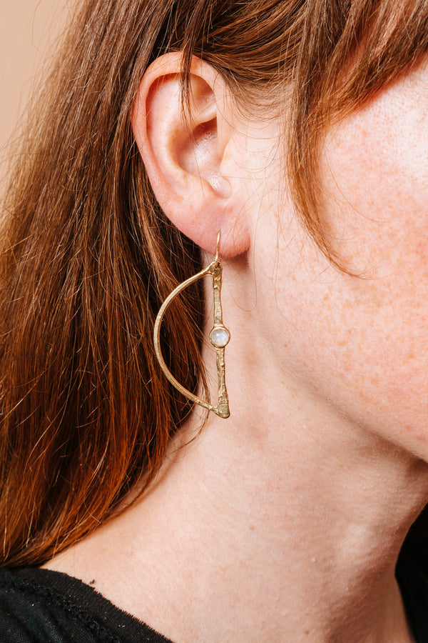 Waxing Moon Earrings
