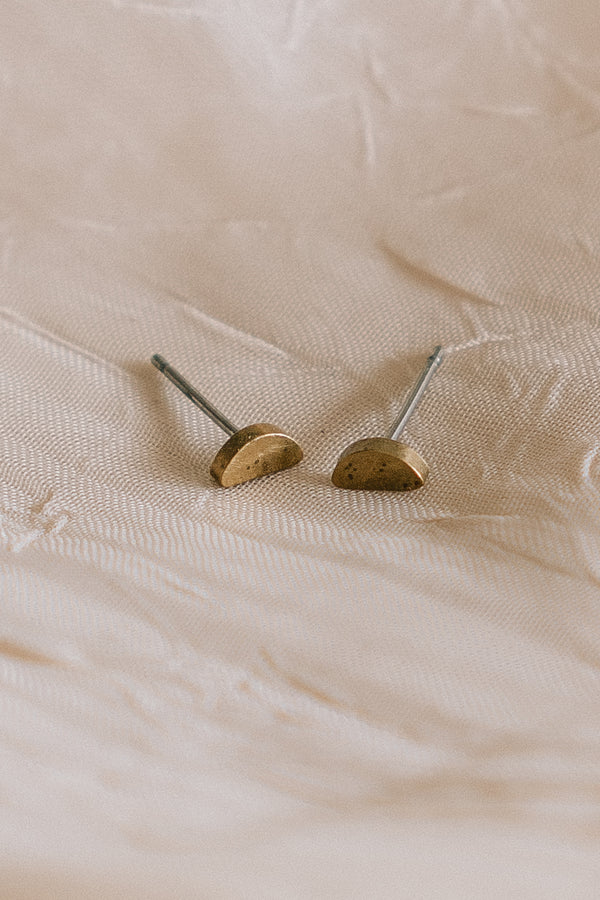 Brass Mini Stud Earrings