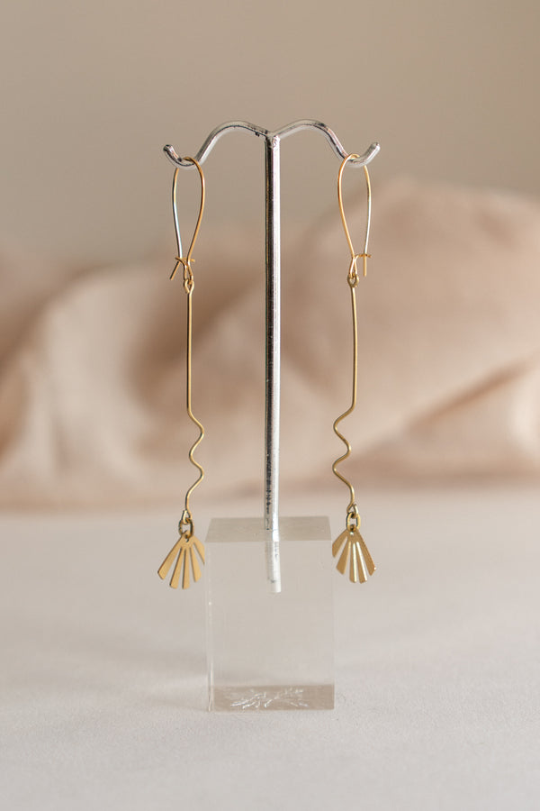Squiggle Fan Earrings