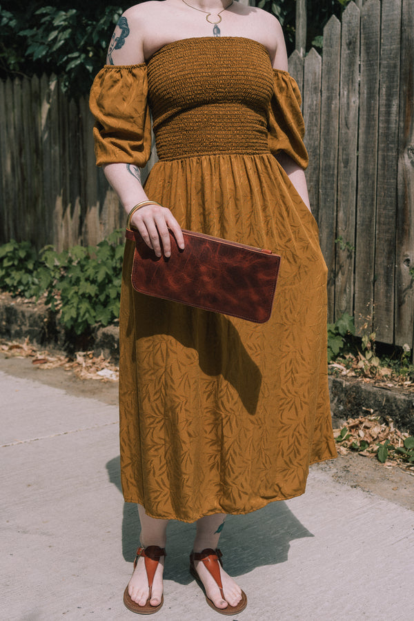 Sappho Dress in Turmeric
