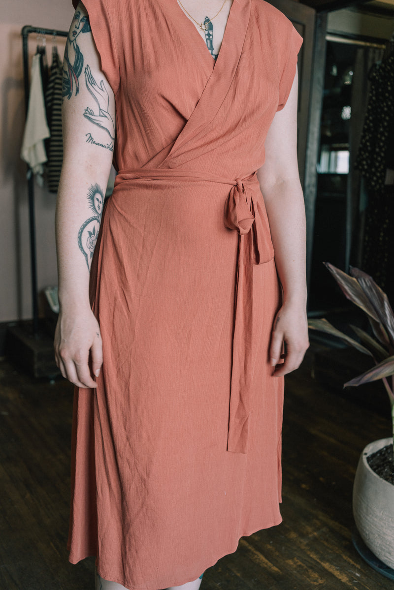 Francis Dress in Coral