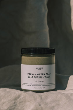 French Green Clay Salt Scrub + Wash