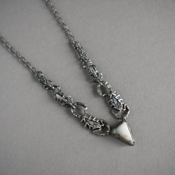 Scorpion Chain and Dendrite Opal Necklace