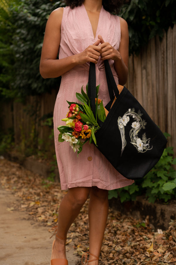 Heron Driftwood to Cosmos Tote Bag