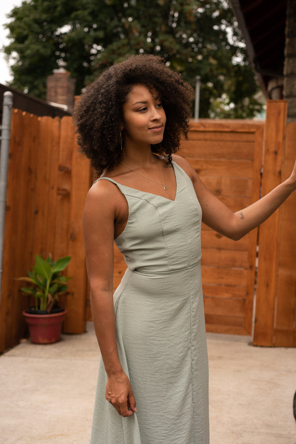 Meadow Dress in Silky Sage