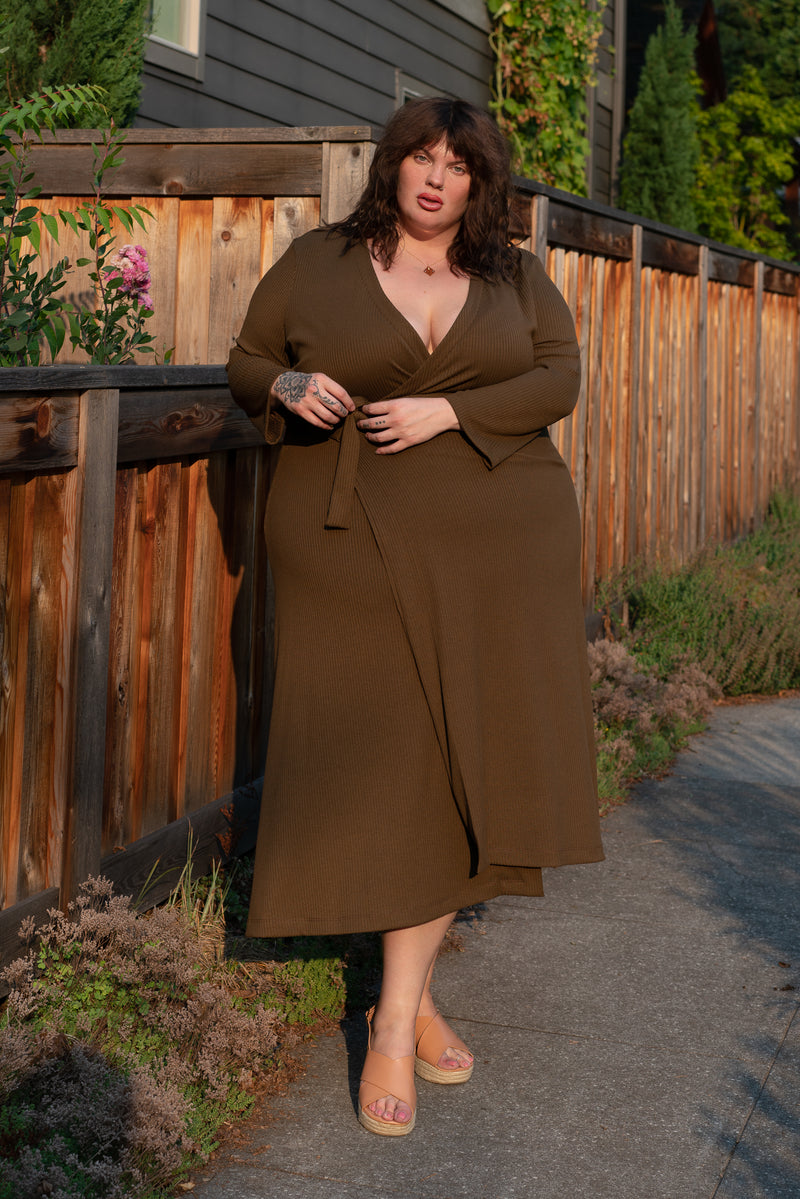 Una Dress in Olive Knit +