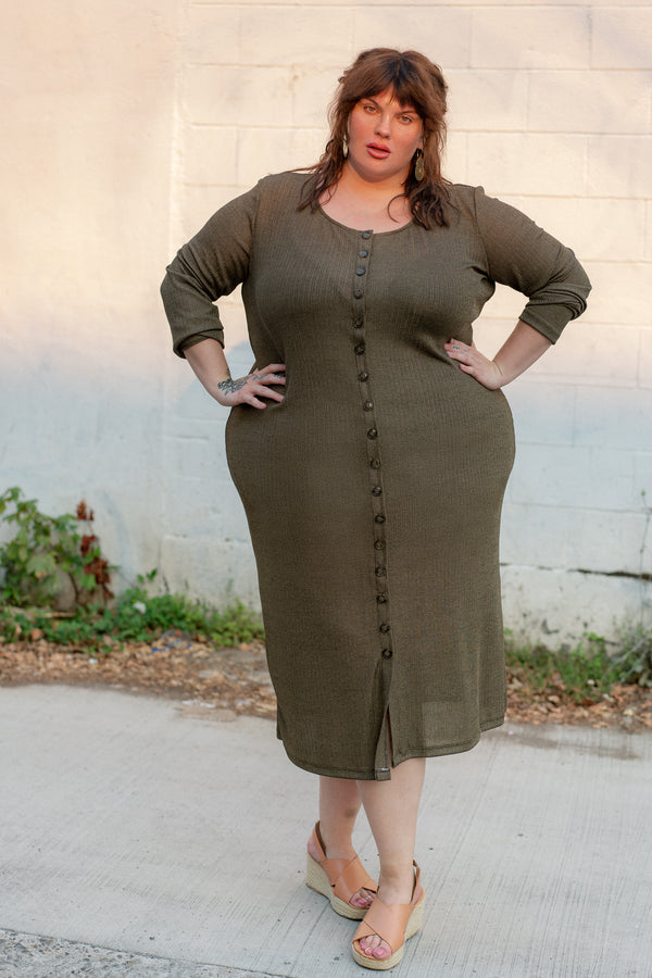 Ila Dress in Gilded Olive +