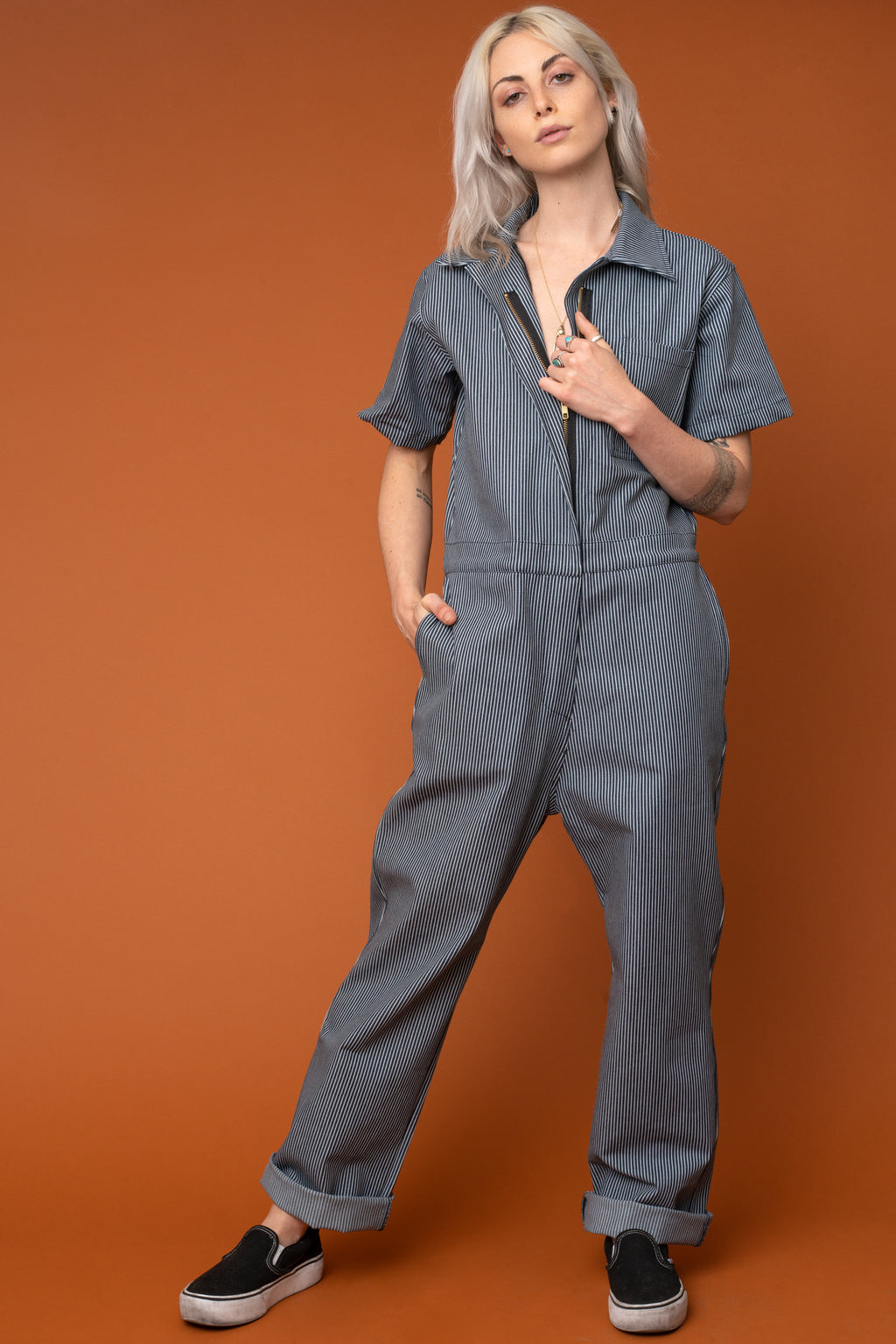 Railroad Stripe Coveralls