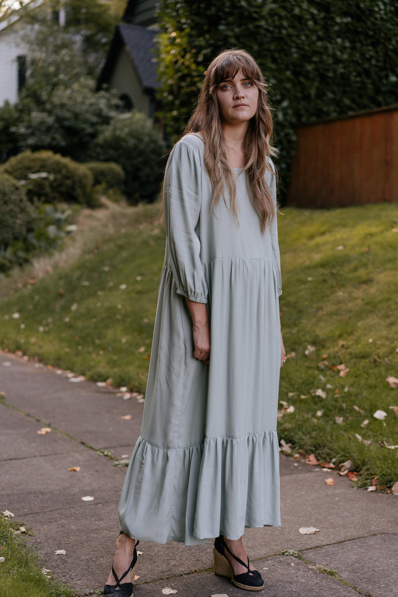Aurora Dress in Sea Foam