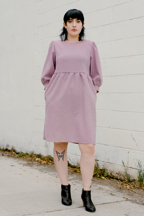 Monique Dress in Graylac