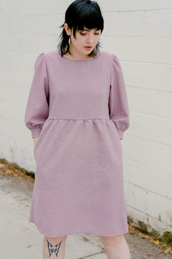 Monique Dress in Graylac (lavender/grey)