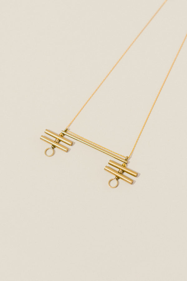 Modern Minimalist Lines Necklace