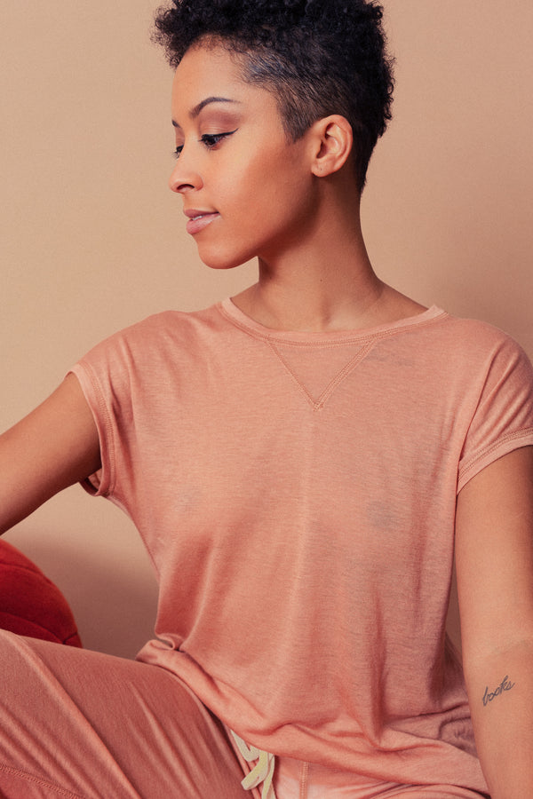 Ronnie Lounge Top in Blush