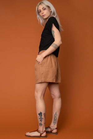 Tan Valentina Shorts