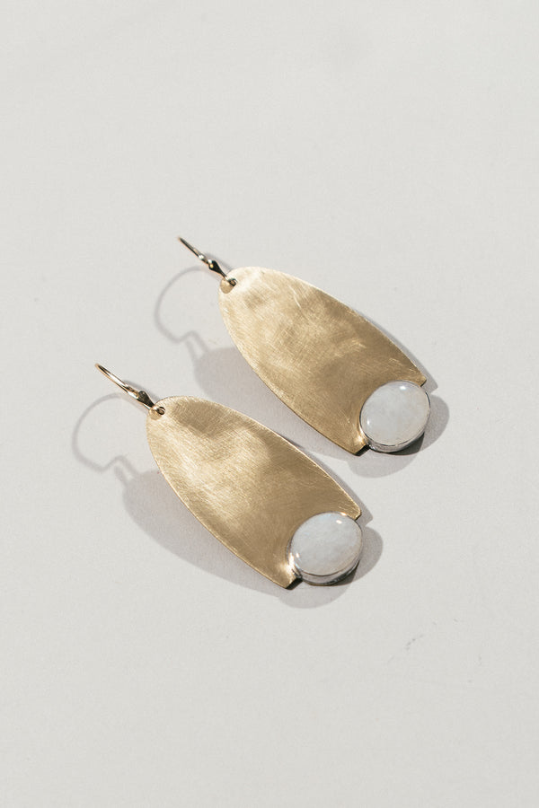 Hedjet Earrings with Moonstone