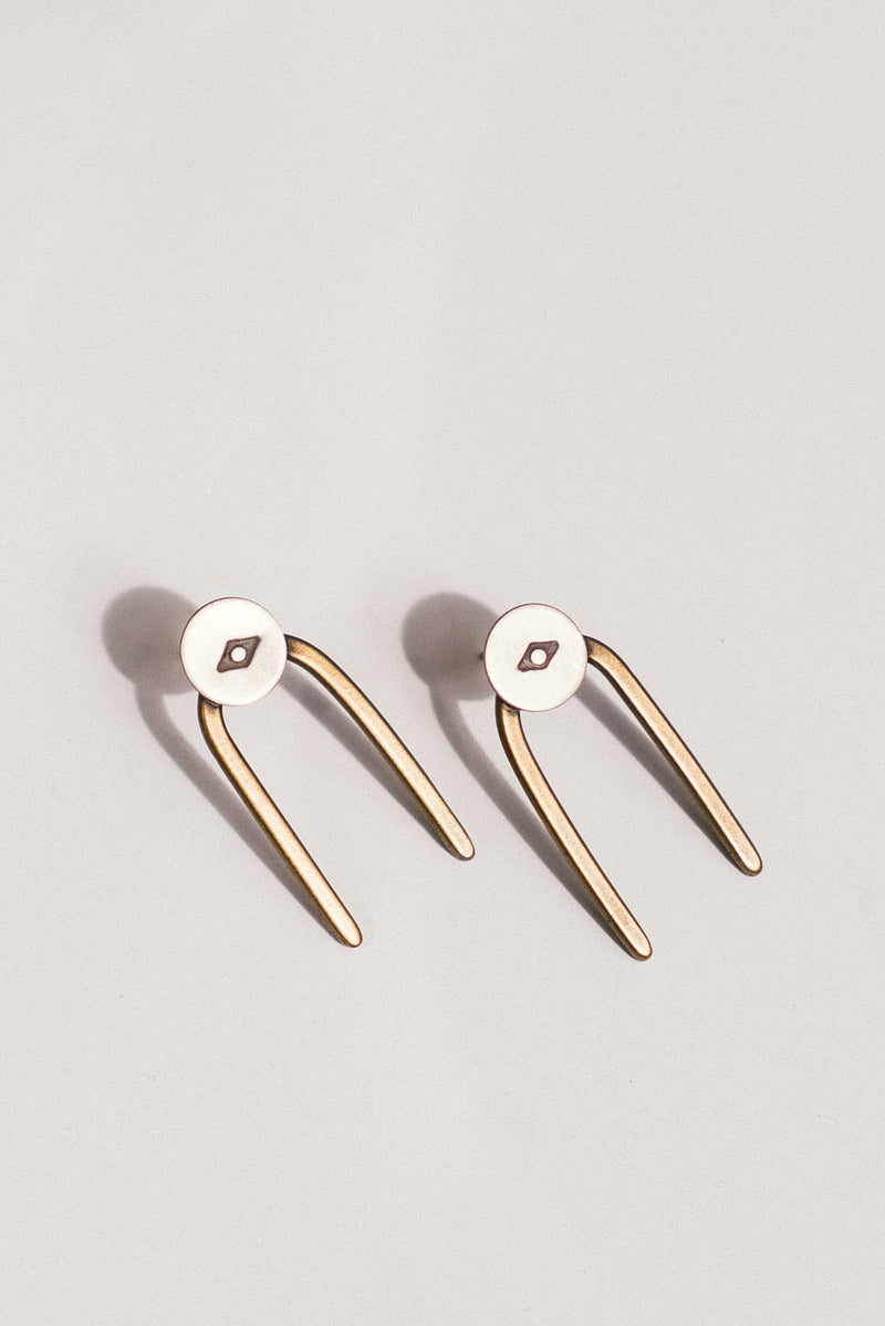 Double Vision Stud Earrings