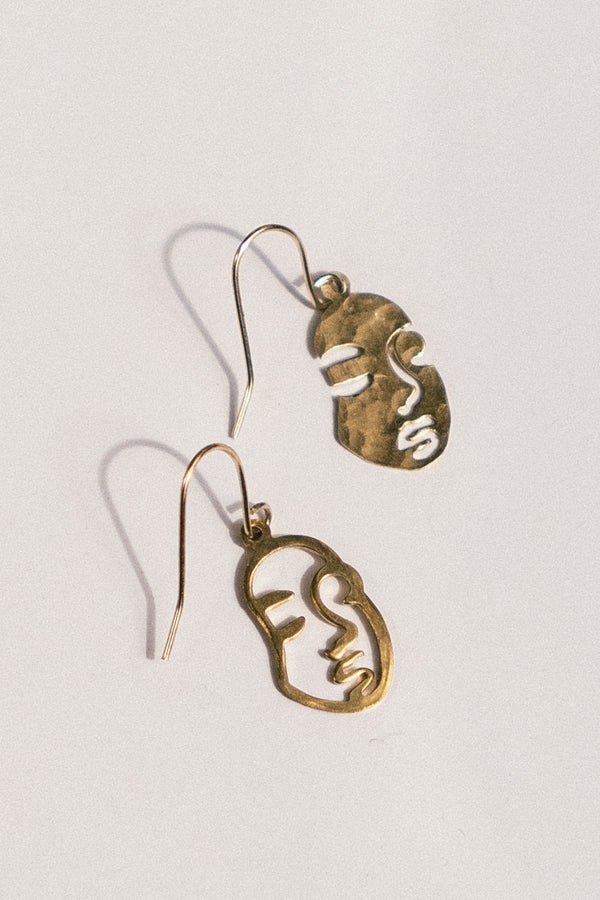 Lady Face Earrings