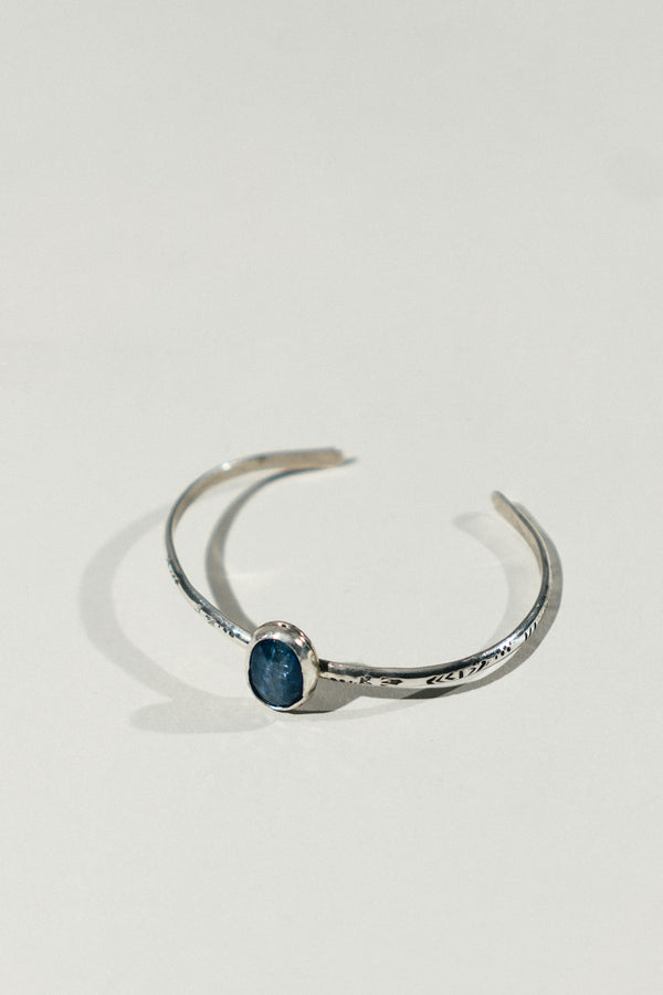 Silver Cuff Bracelet with Stone