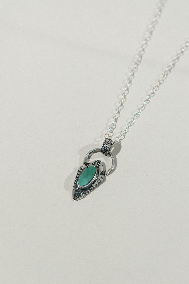 Shield Necklace with Turquoise