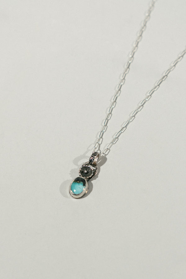 Rosette Halo Necklace with Turquoise