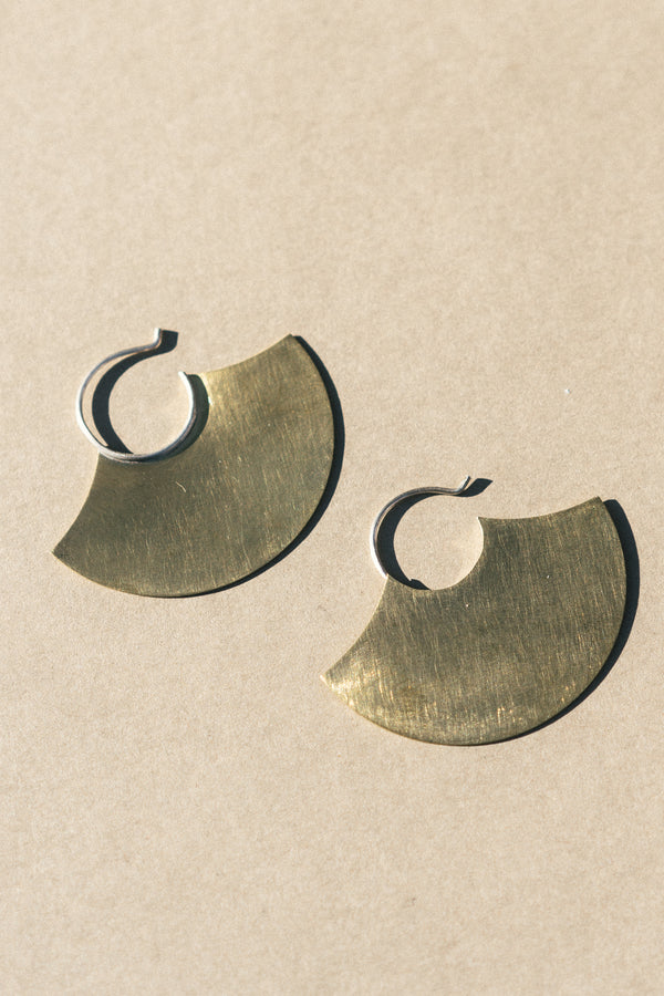 Brass Blade Earrings