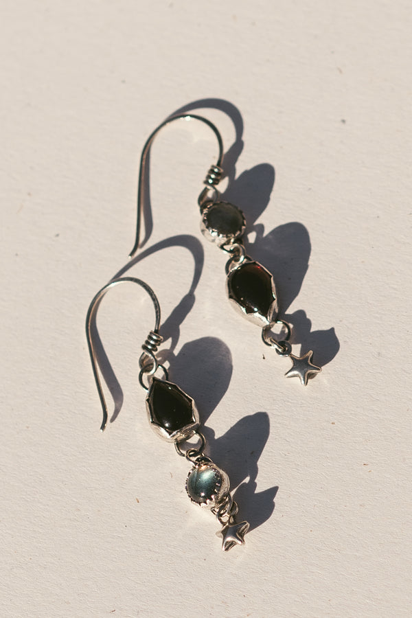 Asymmetrical Star Dangle Earrings