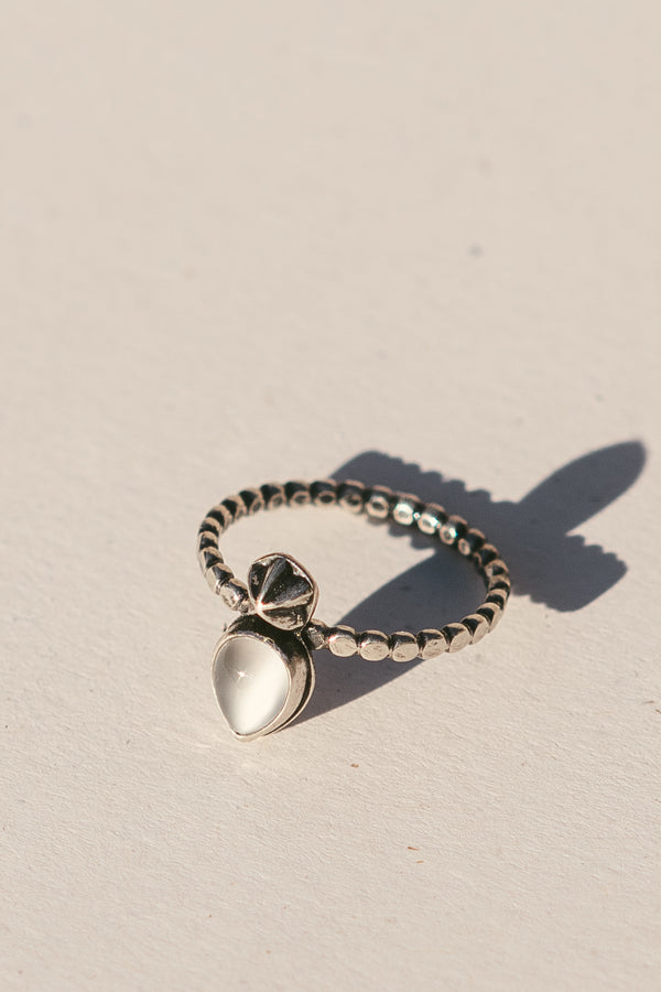 Moonstone Teardrop Ring