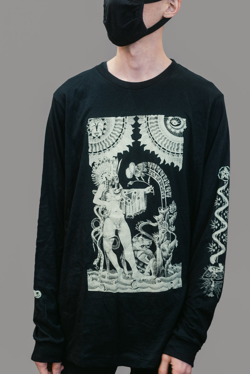 'Total Unified Onslaught' Longsleeve Black T- Shirt
